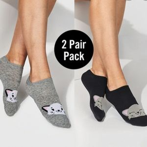 NWT 🐱 Ladies 2 Pair Cat Socks